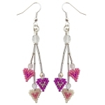 Dangly Hearts Earrings