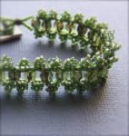 Olive Lace Beadwoven RAW Bracelet