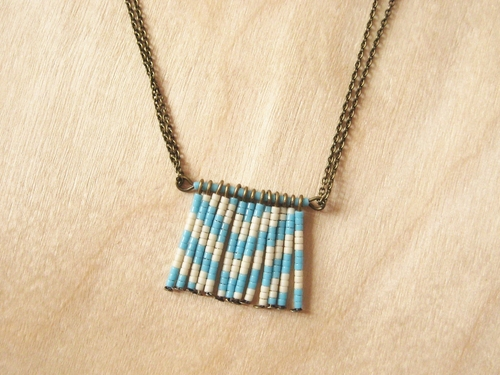 Patterned Fringe Necklace