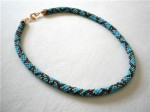 Blue Bead Crochet Necklace