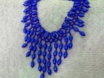 Blue Drops Seed Bead Necklace