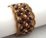 Maroon Seed Bead Bracelet