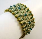 Olivine Seed Bead Bracelet