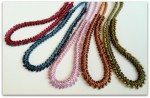 Kumihimo Magatama Bead Fringe Necklace