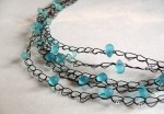 Crochet Bead and Wire Necklace
