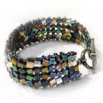 Herringbone Cube Bracelet