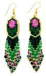 Beaded Rose Pattern Earrings