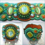 Bead Embroidered Bracelet