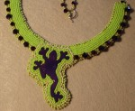Bead Embroidered Frog