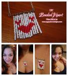 Heart Seed Bead Bracelet