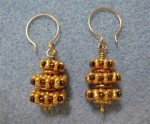 Stacked style earring pattern