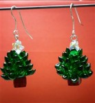 Long Magatama Christmas Tree Earrings
