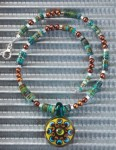 Bead Stringing A Necklace