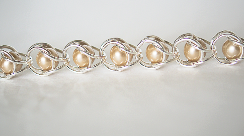 Pearl Chain Maille Bracelet
