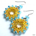 Earrings with Farfalle Seed Beads