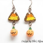 Pumpkin and Candy Corn Earrings