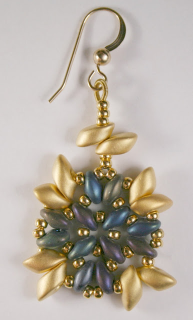 Athena Earrings With Magatamas And Superduos