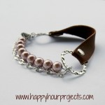Leather Mixed Media Bracelet