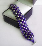 Royal Purple Seed Bead Bracelet