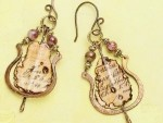 Mixed Media Ephemeral Earrings