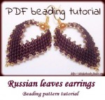 Russian leaf earrings with pearl