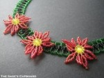 Beaded Poinsettias