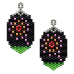 Firework Brick Stitch Earrings