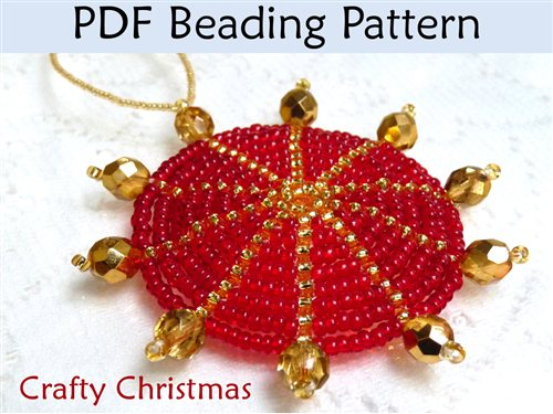 christmas beads on best holiday ornaments amp images free pinterest patterns of cover ornament by buttons beaded