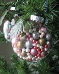 Pearl Bead Filled Ornament