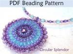 Circular Brick Stitch Pendant