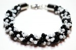Black and White Kumihimo Bracelet