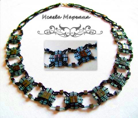 Stringing Beads Patterns Tila Bead Necklace Pattern
