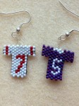 Peyote Stitch Football Jersey Earrings