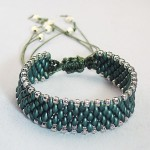 Knotted Macrome Twin Bead Bracelet
