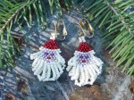 Brick Stitch Santa Earrings