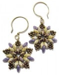 Starburst Earrings using SuperDuo Rizo beads