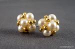 Pearl and Seed Bead Earrings