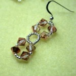 Seed Bead and Crystal Bicone Earrings