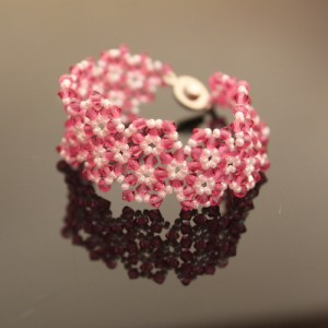 Florets Crystal Beaded Bracelet