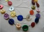 String a Button Necklace
