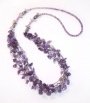Wire Bead Crochet Necklace