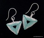3D Beaded Triangle Earrings
