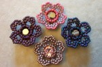 Herringbone Beaded Flowers
