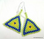 Peyote Stitch Triangle Earrings
