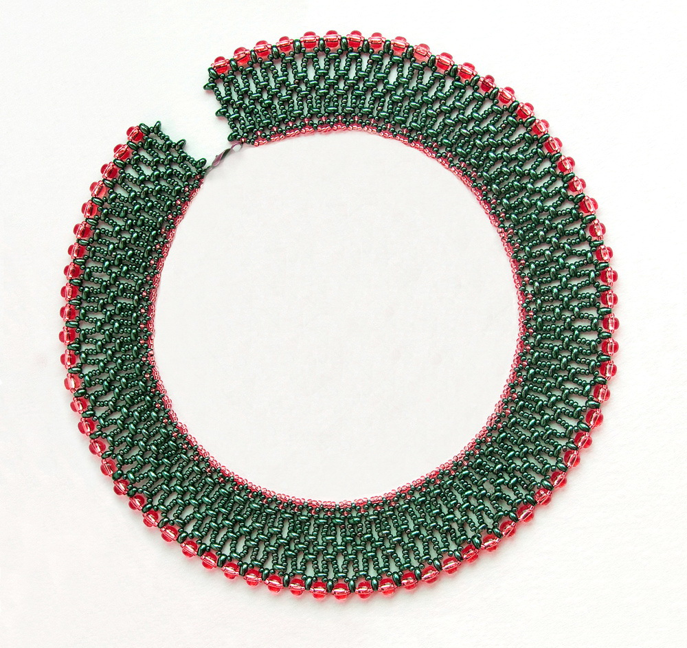 free twins and superduos bead patterns netted collar