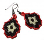 Flower Earrings Brick Stitch Beading Pattern