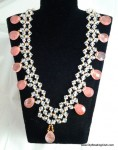 DIY Crystal Coral Necklace Beading Tutorial