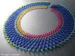 Netted Collar using Long Magatamas
