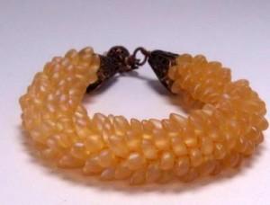 Bead Crochet with Long Magatamas