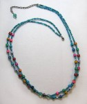 Bead stringing with multiple strands
